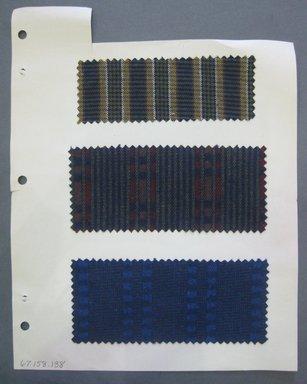Fab-Tex Inc.. <em>Fabric Swatch</em>, 1963-1966. Cotton, sheet: 8 1/4 x 10 1/2 in. (21 x 26.7 cm). Brooklyn Museum, Gift of Fab-Tex Inc., 67.158.138 (Photo: Brooklyn Museum, CUR.67.158.138.jpg)