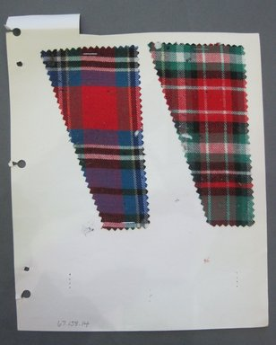 Fab-Tex Inc.. <em>Fabric Swatch</em>, 1963-1966. Cotton, sheet: 8 1/4 x 10 1/2 in. (21 x 26.7 cm). Brooklyn Museum, Gift of Fab-Tex Inc., 67.158.14 (Photo: Brooklyn Museum, CUR.67.158.14.jpg)