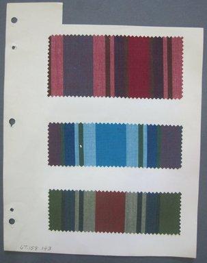 Fab-Tex Inc.. <em>Fabric Swatch</em>, 1963-1966. Cotton, sheet: 8 1/4 x 10 1/2 in. (21 x 26.7 cm). Brooklyn Museum, Gift of Fab-Tex Inc., 67.158.143 (Photo: Brooklyn Museum, CUR.67.158.143.jpg)