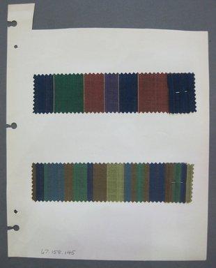 Fab-Tex Inc.. <em>Fabric Swatch</em>, 1963-1966. Cotton, sheet: 8 1/4 x 10 1/2 in. (21 x 26.7 cm). Brooklyn Museum, Gift of Fab-Tex Inc., 67.158.145 (Photo: Brooklyn Museum, CUR.67.158.145.jpg)