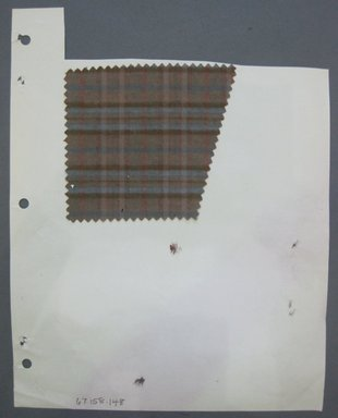 Fab-Tex Inc.. <em>Fabric Swatch</em>, 1963-1966. Cotton, sheet: 8 1/4 x 10 1/2 in. (21 x 26.7 cm). Brooklyn Museum, Gift of Fab-Tex Inc., 67.158.148 (Photo: Brooklyn Museum, CUR.67.158.148.jpg)