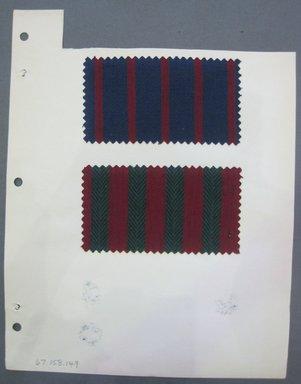 Fab-Tex Inc.. <em>Fabric Swatch</em>, 1963-1966. Cotton (synthetic blend?), sheet: 8 1/4 x 10 1/2 in. (21 x 26.7 cm). Brooklyn Museum, Gift of Fab-Tex Inc., 67.158.149 (Photo: Brooklyn Museum, CUR.67.158.149.jpg)