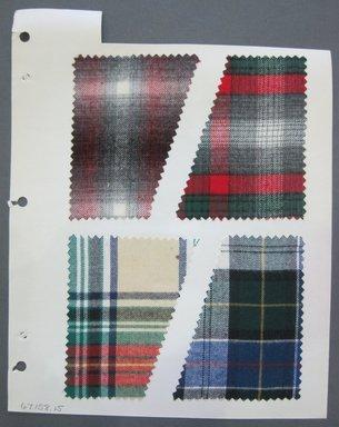 Fab-Tex Inc.. <em>Fabric Swatch</em>, 1963-1966. Cotton, sheet: 8 1/4 x 10 1/2 in. (21 x 26.7 cm). Brooklyn Museum, Gift of Fab-Tex Inc., 67.158.15 (Photo: Brooklyn Museum, CUR.67.158.15.jpg)