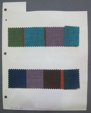 Fab-Tex Inc.. <em>Fabric Swatch</em>, 1963-1966. Cotton, sheet: 8 1/4 x 10 1/2 in. (21 x 26.7 cm). Brooklyn Museum, Gift of Fab-Tex Inc., 67.158.153 (Photo: Brooklyn Museum, CUR.67.158.153.jpg)