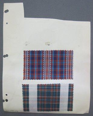 Fab-Tex Inc.. <em>Fabric Swatch</em>, 1963-1966. Silk or synthetic, sheet: 8 1/4 x 10 1/2 in. (21 x 26.7 cm). Brooklyn Museum, Gift of Fab-Tex Inc., 67.158.154 (Photo: Brooklyn Museum, CUR.67.158.154.jpg)