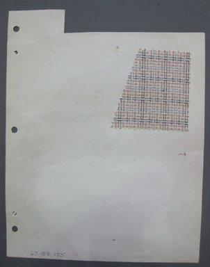 Fab-Tex Inc.. <em>Fabric Swatch</em>, 1963-1966. Cotton, sheet: 8 1/4 x 10 1/2 in. (21 x 26.7 cm). Brooklyn Museum, Gift of Fab-Tex Inc., 67.158.155 (Photo: Brooklyn Museum, CUR.67.158.155.jpg)