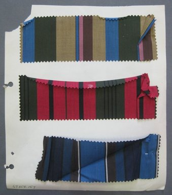 Fab-Tex Inc.. <em>Fabric Swatch</em>, 1963-1966. Cotton, sheet: 8 1/4 x 9 1/2 in. (21 x 24.1 cm). Brooklyn Museum, Gift of Fab-Tex Inc., 67.158.157 (Photo: Brooklyn Museum, CUR.67.158.157.jpg)