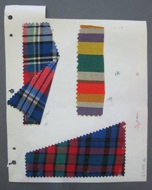 Fab-Tex Inc.. <em>Fabric Swatch</em>, 1963-1966. Cotton and linen, sheet: 8 1/4 x 10 1/2 in. (21 x 26.7 cm). Brooklyn Museum, Gift of Fab-Tex Inc., 67.158.16 (Photo: Brooklyn Museum, CUR.67.158.16.jpg)