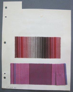 Fab-Tex Inc.. <em>Fabric Swatch</em>, 1963-1966. Cotton, sheet: 8 1/4 x 10 1/2 in. (21 x 26.7 cm). Brooklyn Museum, Gift of Fab-Tex Inc., 67.158.161 (Photo: Brooklyn Museum, CUR.67.158.161.jpg)