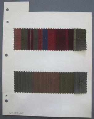 Fab-Tex Inc.. <em>Fabric Swatch</em>, 1963-1966. Synthetic and Cotton, sheet: 8 1/4 x 10 1/2 in. (21 x 26.7 cm). Brooklyn Museum, Gift of Fab-Tex Inc., 67.158.163 (Photo: Brooklyn Museum, CUR.67.158.163.jpg)