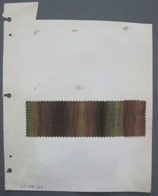Fab-Tex Inc.. <em>Fabric Swatch</em>, 1963-1966. Cotton and/or synthetic, sheet: 8 1/4 x 10 1/2 in. (21 x 26.7 cm). Brooklyn Museum, Gift of Fab-Tex Inc., 67.158.164 (Photo: Brooklyn Museum, CUR.67.158.164.jpg)