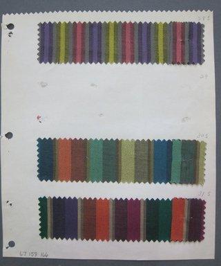 Fab-Tex Inc.. <em>Fabric Swatch</em>, 1963-1966. Cotton, sheet: 8 1/4 x 9 1/2 in. (21 x 24.1 cm). Brooklyn Museum, Gift of Fab-Tex Inc., 67.158.166 (Photo: Brooklyn Museum, CUR.67.158.166.jpg)