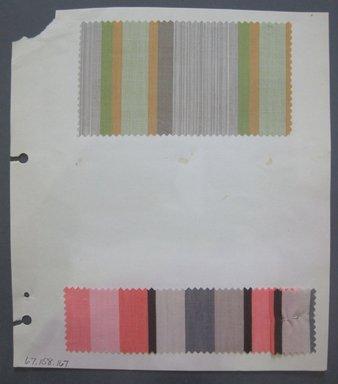 Fab-Tex Inc.. <em>Fabric Swatch</em>, 1963-1966. Cotton, sheet: 8 1/4 x 9 1/2 in. (21 x 24.1 cm). Brooklyn Museum, Gift of Fab-Tex Inc., 67.158.167 (Photo: Brooklyn Museum, CUR.67.158.167.jpg)
