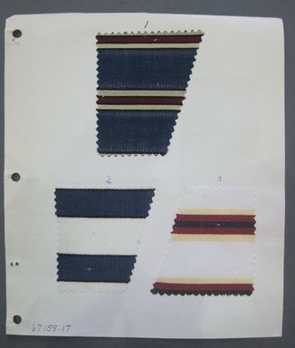 Fab-Tex Inc.. <em>Fabric Swatch</em>, 1963-1966. Silk, sheet: 8 1/4 x 9 1/2 in. (21 x 24.1 cm). Brooklyn Museum, Gift of Fab-Tex Inc., 67.158.17 (Photo: Brooklyn Museum, CUR.67.158.17.jpg)