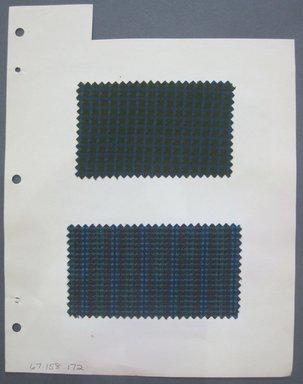 Fab-Tex Inc.. <em>Fabric Swatch</em>, 1963-1966. Cotton and silk, sheet: 8 1/4 x 10 1/2 in. (21 x 26.7 cm). Brooklyn Museum, Gift of Fab-Tex Inc., 67.158.172 (Photo: Brooklyn Museum, CUR.67.158.172.jpg)