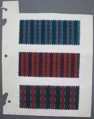 Fab-Tex Inc.. <em>Fabric Swatch</em>, 1963-1966. Synthetic, sheet: 8 1/4 x 10 1/2 in. (21 x 26.7 cm). Brooklyn Museum, Gift of Fab-Tex Inc., 67.158.173 (Photo: Brooklyn Museum, CUR.67.158.173.jpg)