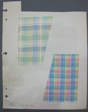 Fab-Tex Inc.. <em>Fabric Swatch</em>, 1963-1966. Cotton, sheet: 8 1/4 x 10 1/2 in. (21 x 26.7 cm). Brooklyn Museum, Gift of Fab-Tex Inc., 67.158.174 (Photo: Brooklyn Museum, CUR.67.158.174.jpg)