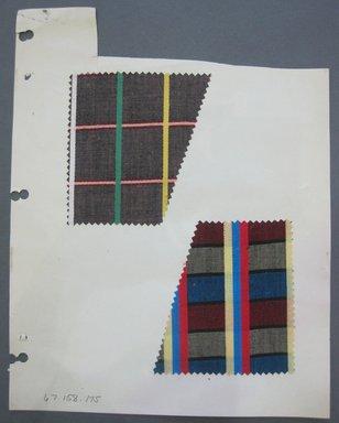 Fab-Tex Inc.. <em>Fabric Swatch</em>, 1963-1966. Cotton, sheet: 8 1/4 x 10 1/2 in. (21 x 26.7 cm). Brooklyn Museum, Gift of Fab-Tex Inc., 67.158.175 (Photo: Brooklyn Museum, CUR.67.158.175.jpg)