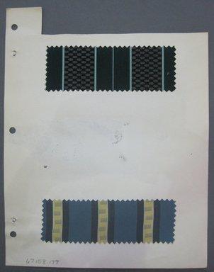 Fab-Tex Inc.. <em>Fabric Swatch</em>, 1963-1966. Silk, sheet: 8 1/4 x 10 1/2 in. (21 x 26.7 cm). Brooklyn Museum, Gift of Fab-Tex Inc., 67.158.177 (Photo: Brooklyn Museum, CUR.67.158.177.jpg)