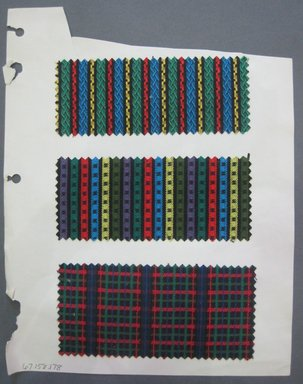 Fab-Tex Inc.. <em>Fabric Swatch</em>, 1963-1966. Cotton and/or synthetic, sheet: 8 1/4 x 10 1/2 in. (21 x 26.7 cm). Brooklyn Museum, Gift of Fab-Tex Inc., 67.158.178 (Photo: Brooklyn Museum, CUR.67.158.178.jpg)