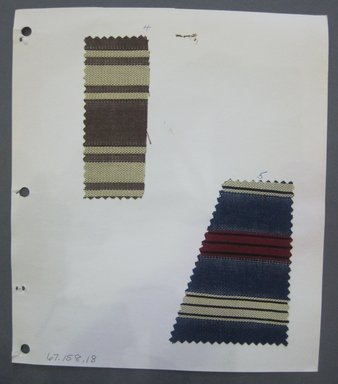 Fab-Tex Inc.. <em>Fabric Swatch</em>, 1963-1966. Silk, sheet: 8 1/4 x 9 1/2 in. (21 x 24.1 cm). Brooklyn Museum, Gift of Fab-Tex Inc., 67.158.18 (Photo: Brooklyn Museum, CUR.67.158.18.jpg)