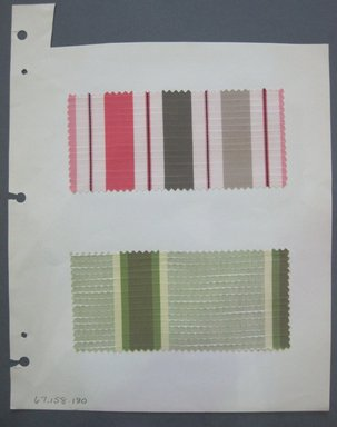 Fab-Tex Inc.. <em>Fabric Swatch</em>, 1963-1966. Cotton and silk, sheet: 8 1/4 x 10 1/2 in. (21 x 26.7 cm). Brooklyn Museum, Gift of Fab-Tex Inc., 67.158.180 (Photo: Brooklyn Museum, CUR.67.158.180.jpg)