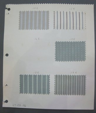 Fab-Tex Inc.. <em>Fabric Swatch</em>, 1963-1966. Cotton and/or synthetic, sheet: 8 1/4 x 9 1/2 in. (21 x 24.1 cm). Brooklyn Museum, Gift of Fab-Tex Inc., 67.158.196 (Photo: Brooklyn Museum, CUR.67.158.196.jpg)