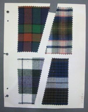Fab-Tex Inc.. <em>Fabric Swatch</em>, 1963-1966. Cotton flannel (possibly with synthetic blend), sheet: 8 1/4 x 10 1/2 in. (21 x 26.7 cm). Brooklyn Museum, Gift of Fab-Tex Inc., 67.158.2 (Photo: Brooklyn Museum, CUR.67.158.2.jpg)