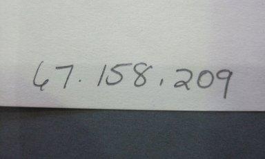 Fab-Tex Inc.. <em>Fabric Swatch</em>, 1963-1966. Cotton (synthetic blend?), sheet: 8 1/4 x 10 1/2 in. (21 x 26.7 cm). Brooklyn Museum, Gift of Fab-Tex Inc., 67.158.209 (Photo: Brooklyn Museum, CUR.67.158.209_documentation.jpg)