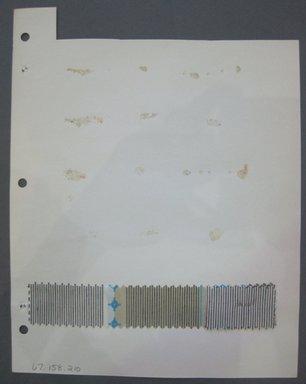 Fab-Tex Inc.. <em>Fabric Swatch</em>, 1963-1966. Cotton, sheet: 8 1/4 x 10 1/2 in. (21 x 26.7 cm). Brooklyn Museum, Gift of Fab-Tex Inc., 67.158.210 (Photo: Brooklyn Museum, CUR.67.158.210.jpg)