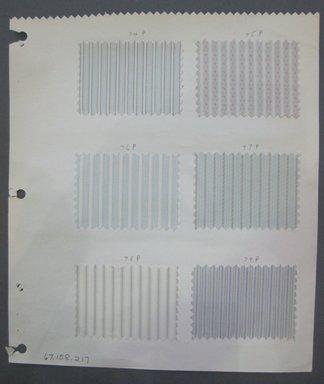 Fab-Tex Inc.. <em>Fabric Swatch</em>, 1963-1966. Silk, sheet: 8 1/4 x 9 1/2 in. (21 x 24.1 cm). Brooklyn Museum, Gift of Fab-Tex Inc., 67.158.217 (Photo: Brooklyn Museum, CUR.67.158.217.jpg)