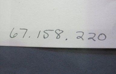 Fab-Tex Inc.. <em>Fabric Swatch</em>, 1963-1966. Cotton (synthetic blend?), sheet: 8 1/4 x 9 1/2 in. (21 x 24.1 cm). Brooklyn Museum, Gift of Fab-Tex Inc., 67.158.220 (Photo: Brooklyn Museum, CUR.67.158.220_documentation.jpg)
