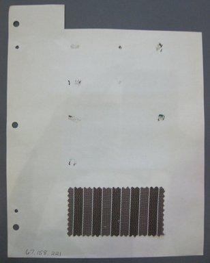 Fab-Tex Inc.. <em>Fabric Swatch</em>, 1963-1966. Cotton, sheet: 8 1/4 x 10 1/2 in. (21 x 26.7 cm). Brooklyn Museum, Gift of Fab-Tex Inc., 67.158.221 (Photo: Brooklyn Museum, CUR.67.158.221.jpg)