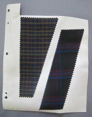Fab-Tex Inc.. <em>Fabric Swatch</em>, 1963-1966. Wool (blended?), sheet: 8 1/4 x 10 1/2 in. (21 x 26.7 cm). Brooklyn Museum, Gift of Fab-Tex Inc., 67.158.238 (Photo: Brooklyn Museum, CUR.67.158.238.jpg)