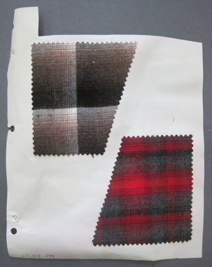 Fab-Tex Inc.. <em>Fabric Swatch</em>, 1963-1966. Wool, sheet: 8 1/4 x 10 1/2 in. (21 x 26.7 cm). Brooklyn Museum, Gift of Fab-Tex Inc., 67.158.239 (Photo: Brooklyn Museum, CUR.67.158.239.jpg)