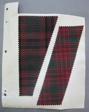 Fab-Tex Inc.. <em>Fabric Swatch</em>, 1963-1966. Cotton (blended with synthetic?), sheet: 8 1/4 x 10 1/2 in. (21 x 26.7 cm). Brooklyn Museum, Gift of Fab-Tex Inc., 67.158.240 (Photo: Brooklyn Museum, CUR.67.158.240.jpg)