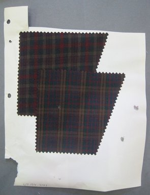 Fab-Tex Inc.. <em>Fabric Swatch</em>, 1963-1966. Cotton and or synthetic, sheet: 8 1/4 x 10 1/2 in. (21 x 26.7 cm). Brooklyn Museum, Gift of Fab-Tex Inc., 67.158.241 (Photo: Brooklyn Museum, CUR.67.158.241.jpg)