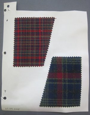 Fab-Tex Inc.. <em>Fabric Swatch</em>, 1963-1966. Wool, sheet: 8 1/4 x 10 1/2 in. (21 x 26.7 cm). Brooklyn Museum, Gift of Fab-Tex Inc., 67.158.245 (Photo: Brooklyn Museum, CUR.67.158.245.jpg)