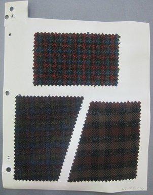 Fab-Tex Inc.. <em>Fabric Swatch</em>, 1963-1966. Wool, sheet: 8 1/4 x 10 1/2 in. (21 x 26.7 cm). Brooklyn Museum, Gift of Fab-Tex Inc., 67.158.246 (Photo: Brooklyn Museum, CUR.67.158.246.jpg)