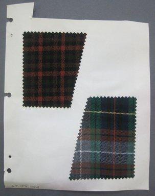 Fab-Tex Inc.. <em>Fabric Swatch</em>, 1963-1966. Wool, sheet: 8 1/4 x 10 1/2 in. (21 x 26.7 cm). Brooklyn Museum, Gift of Fab-Tex Inc., 67.158.252 (Photo: Brooklyn Museum, CUR.67.158.252.jpg)