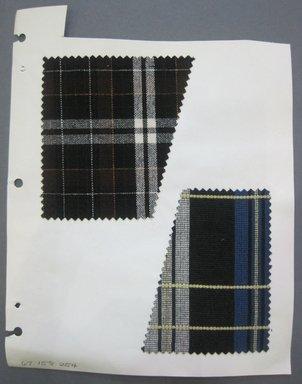 Fab-Tex Inc.. <em>Fabric Swatch</em>, 1963-1966. Wool, sheet: 8 1/4 x 10 1/2 in. (21 x 26.7 cm). Brooklyn Museum, Gift of Fab-Tex Inc., 67.158.254 (Photo: Brooklyn Museum, CUR.67.158.254.jpg)