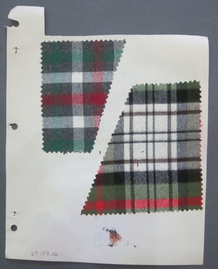 Fab-Tex Inc.. <em>Fabric Swatch</em>, 1963-1966. Cotton, sheet: 8 1/4 x 10 1/2 in. (21 x 26.7 cm). Brooklyn Museum, Gift of Fab-Tex Inc., 67.158.26 (Photo: Brooklyn Museum, CUR.67.158.26.jpg)