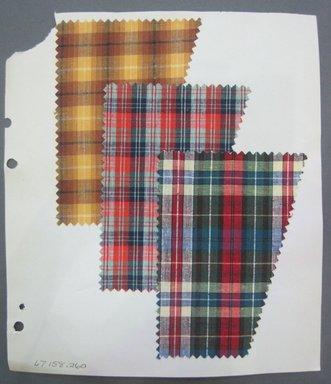 Fab-Tex Inc.. <em>Fabric Swatch</em>, 1963-1966. Cotton, sheet: 8 1/4 x 9 1/2 in. (21 x 24.1 cm). Brooklyn Museum, Gift of Fab-Tex Inc., 67.158.260 (Photo: Brooklyn Museum, CUR.67.158.260.jpg)