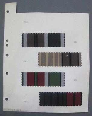 Fab-Tex Inc.. <em>Fabric Swatch</em>, 1963-1966. Cotton, sheet: 8 1/4 x 10 1/2 in. (21 x 26.7 cm). Brooklyn Museum, Gift of Fab-Tex Inc., 67.158.263 (Photo: Brooklyn Museum, CUR.67.158.263.jpg)