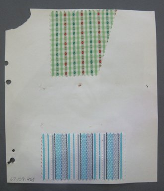 Fab-Tex Inc.. <em>Fabric Swatch</em>, 1963-1966. Cotton, sheet: 8 1/4 x 9 1/2 in. (21 x 24.1 cm). Brooklyn Museum, Gift of Fab-Tex Inc., 67.158.265 (Photo: Brooklyn Museum, CUR.67.158.265.jpg)