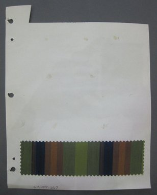 Fab-Tex Inc.. <em>Fabric Swatch</em>, 1963-1966. Cotton, sheet: 8 1/4 x 10 1/2 in. (21 x 26.7 cm). Brooklyn Museum, Gift of Fab-Tex Inc., 67.158.267 (Photo: Brooklyn Museum, CUR.67.158.267.jpg)