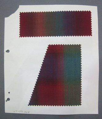 Fab-Tex Inc.. <em>Fabric Swatch</em>, 1963-1966. Cotton, sheet: 8 1/4 x 9 1/2 in. (21 x 24.1 cm). Brooklyn Museum, Gift of Fab-Tex Inc., 67.158.268 (Photo: Brooklyn Museum, CUR.67.158.268.jpg)