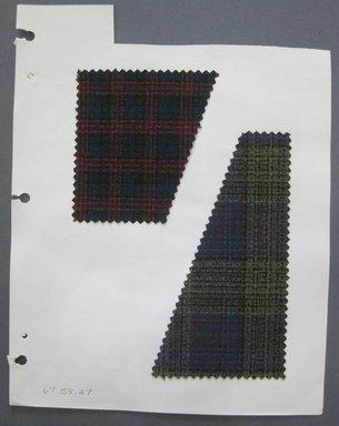 Fab-Tex Inc.. <em>Fabric Swatch</em>, 1963-1966. Cotton, sheet: 8 1/4 x 10 1/2 in. (21 x 26.7 cm). Brooklyn Museum, Gift of Fab-Tex Inc., 67.158.27 (Photo: Brooklyn Museum, CUR.67.158.27.jpg)
