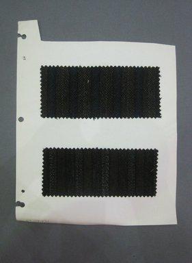 Fab-Tex Inc.. <em>Fabric Swatch</em>, 1963-1966. Wool, paper, sheet: 10 1/2 x 8 1/4 in. (26.7 x 21 cm). Brooklyn Museum, Gift of Fab-Tex Inc., 67.158.271 (Photo: Brooklyn Museum, CUR.67.158.271.jpg)