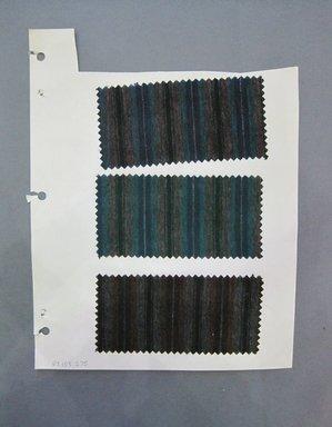 Fab-Tex Inc.. <em>Fabric Swatch</em>, 1963-1966. Wool, paper, sheet: 10 1/2 x 8 1/4 in. (26.7 x 21 cm). Brooklyn Museum, Gift of Fab-Tex Inc., 67.158.275 (Photo: Brooklyn Museum, CUR.67.158.275.jpg)
